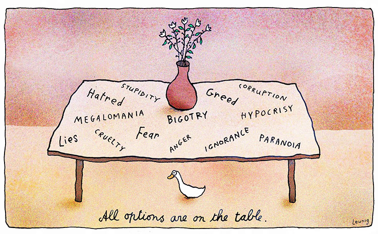 All Options are on the Table - Leunig